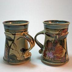 Maldon Pottery. Pair of mugs Victoria. Australia.