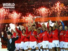 Manchester United, (World Club Cup Manchester Unaited, Manchester United Football, Towson University, Eric Cantona, Club World Cup, Sir Alex Ferguson, We Are The Champions, Simply Red, Professional Football
