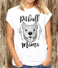 Pitbull mama, pitbull t shirt, pitbull mom, pitbull, pitbull shirt, pitbull love, womens pitbull shirt by somanygreatthings on Etsy