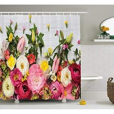Mirryderr Rustic Home Decor Shower Curtain, A Bunch of Flowers Ranunculus on Wooden Rose Fragrance Floral Elegance Pattern, Fabric Bathroom Decor Set with Hooks, Multi >>> Learn more by visiting the image link. (This is an affiliate link) Wooden Roses, Bathroom Decor Sets, Pattern Fabric, Shower Curtain Sets, Bunch Of Flowers, Ranunculus, Hooks, Image Link, Fragrance