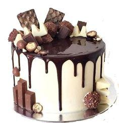 Фотография - cupcakes, cakes & Co - Macaron Bolo Drip Cake, Bolo Cake, Chocolate Drip Cake, Love Chocolate, Chocolate Explosion Cake, Chocolate Torte, Cake Cookies, Cupcake Cakes, Drippy Cakes