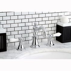 American Patriot Widespread Chrome Bathroom Faucet - Free Shipping Today - Overstock.com - 13310486 - Mobile