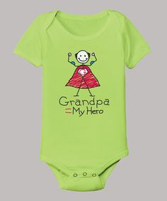 Take a look at this Key Lime 'Grandpa is My Hero' Bodysuit - Infant by Airwaves on #zulily today!
