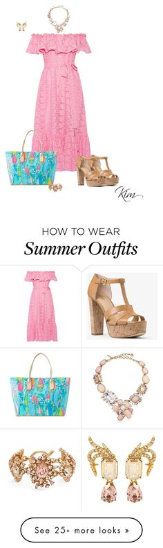 """Summer Bag"" by ksims-1 on Polyvore featuring Lisa Marie Fernandez, Lilly Pulitzer, MICHAEL Michael Kors and Oscar de la Renta"