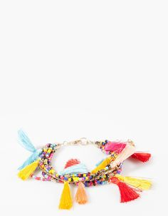 Bead and tassel bracelet