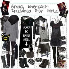"""Andy Biersack Inspired (For Girls)"" by xxxbloodyrosexxx on Polyvore"