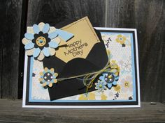 Mother's Day Card - Scrapbook.com - Tuck a note with the card sentiment into a mini envelope for a fun element.