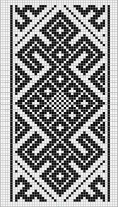This Pin was discovered by Hel Tapestry Crochet Patterns, Fair Isle Knitting Patterns, Crochet Motifs, Needlepoint Patterns, Crochet Diagram, Knitting Charts, Mosaic Patterns, Inkle Weaving, Inkle Loom