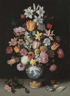 A Still Life of Flowers in a Wan-Li vase from Bosschaert sr. -