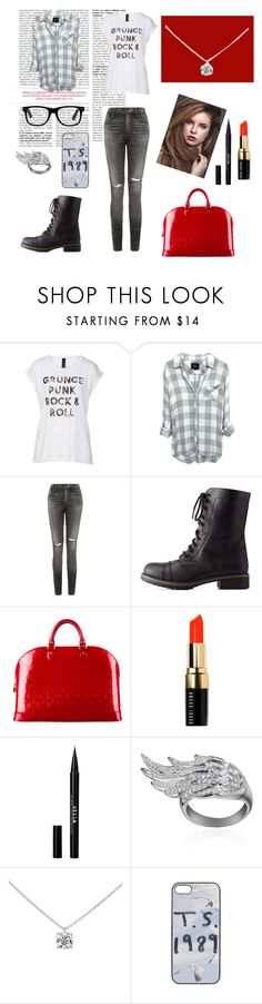 """""""Black/gray..."""" by chrisantal ❤ liked on Polyvore featuring Axel, Citizens of Humanity, Charlotte Russe, Louis Vuitton, Bobbi Brown Cosmetics, Stila, AS29, Tiffany & Co., women's clothing and women's fashion"""