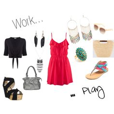 Pink, Work and Play, created by danielle-spakes on Polyvore