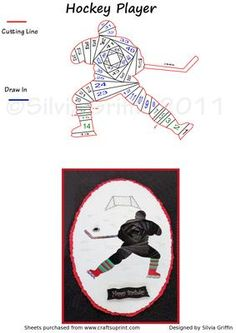Hockey Player IF on Craftsuprint designed by Silvia Griffin - Winter is almost here and time to play hockey. May want to use team colors on the socks and make it more personal. Have fun. - Now available for download!