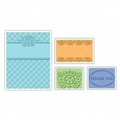 Fustella Textured Impressions Embossing Folders 4PK - Thank You Set #5 € 14