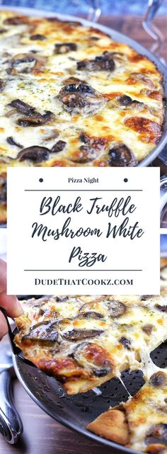If I were a betting man I would be willing to state for the record that this Black Truffle Mushroom White Pizza would be a top seller in any pizza parlor. If you are a mushroom lover such as myself, the additional flavor from the white sauce along with the truffle add-ins will have you thinking about this just as much as I do. #pizza #blacktruffle #whitepizza #pizzanight #mushrooms via @dudethatcookz