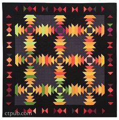 The Pineapple Quilt with marquee border. #KonaCotton