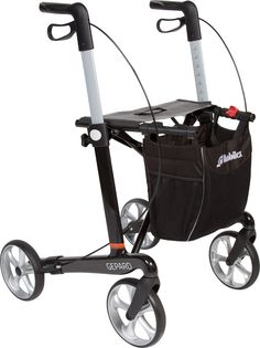"""Voici le  Déambulateur pliable à 4 roues """"Guepard"""" que vous trouverez au meilleur prix sur www.senup.com.     https://www.senup.com/deambulateur-4-roues-guepard-pliable-avec-siege-4511.html     Déambulateur pliable à 4 roues """"Guepard""""    Pliable.  Structure en fibre de carbone et aluminium.  Poignées réglables en hauteur.  Équipé d'un siège et d'un sac.  Freins de parking.  Largeur : 60,8 cm.  Hauteur des poignées : de 74 à 102 cm."""