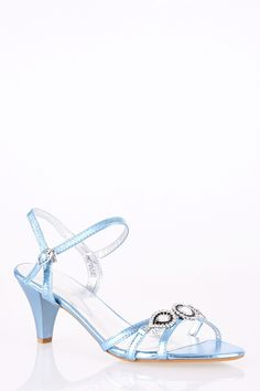 Large Size Elegant Sandal with Jewel and Diamante Detail