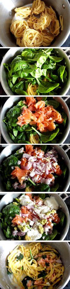 Comment faire des tagliatelles saumon ?