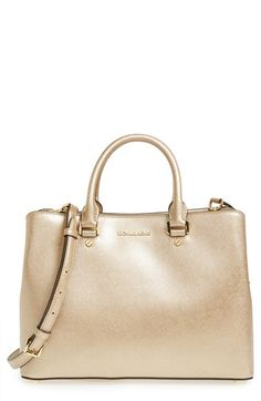 bfb31b9f03 MICHAEL MICHAEL KORS 'Large Savannah' Metallic Leather Satchel.  #michaelmichaelkors #bags #
