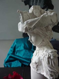 Love these beautiful plaster busts by Kathy Dalwood