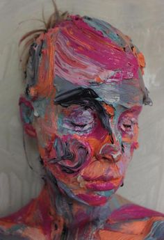 Sophie Derrick's Colorful, Layered Self Portraits Created By Painting Directly Onto Her Skin Portrait Art, Portraits, Portrait Ideas, Painting Quotes, Oil Water, A Level Art, Easy Watercolor, Sculpture, Body Painting