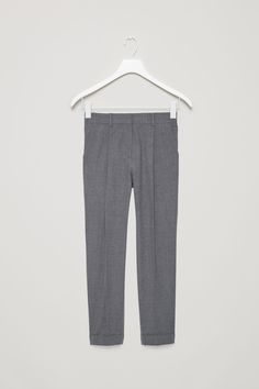 COS image 5 of Tapered trousers in Dark Grey