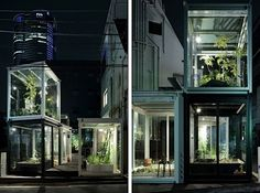 Roppongi Nouen Farm in the steamy heart of Tokyo comprises a series of stacked glass cubes full of a variety of produce