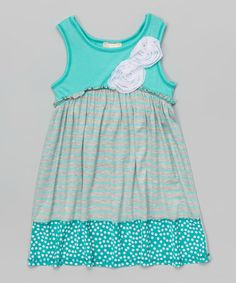 Look at this #zulilyfind! Jade & Gray A-Line Dress - Toddler & Girls by Pink Vanilla #zulilyfinds