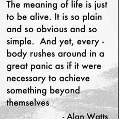 """""""meaning of life"""" 