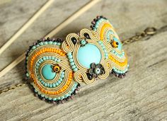 Colorful+boho+bracelet+soutache+bracelet+colorful+by+pUkke+on+Etsy