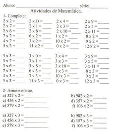 ... Multiplication Sheets, Math Subtraction, Math Worksheets, Math Activities, Math 4 Kids, School Frame, Sheet Music, Learning, Erika