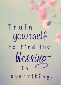 Because God is good and His kindness appears in all things if we train our eyes to recognize His presence.