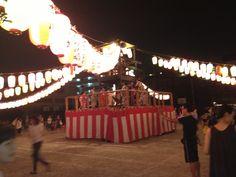 Obon festival platform