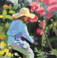 """The Flower Jungle 2"" - Original Fine Art for Sale - © Kaethe Bealer"