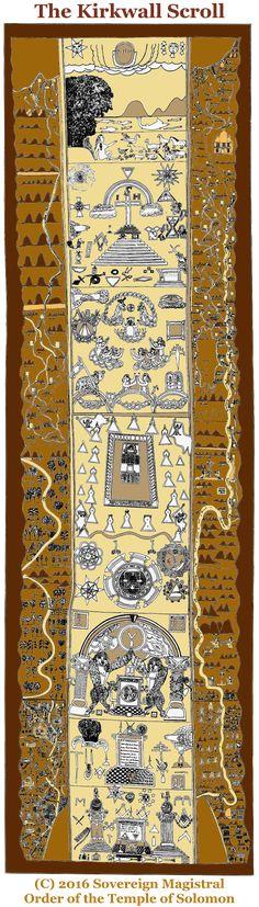 'Kirkwall Scroll' at Kilwinning Masonic Lodge in Orkney, England (15th century)