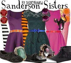 Hocus Pocus - Sanderson Sisters by Disney Bound Disney Bound Outfits, Disney Dresses, Disney Clothes, Disneyland Outfits, Disney Shirts, Disney Inspired Fashion, Disney Fashion, Disney Halloween, Halloween Costumes