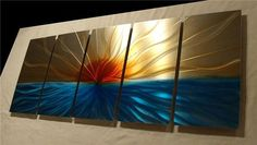 WOW! These wall arts are spectacular!   Sunset / Abstract Painting a Metal Wall Art Sculpture by Niderart