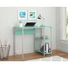 Mainstays Basic Metal Student Desk, Multiple Colors, Green