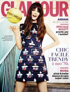 """Cyclone Stacy"" Stacy Martin for Glamour Italy May 2015"
