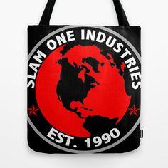 SLAM ONE INDUSTRIES Tote Bag by James Eye - $22.00