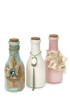 Add cute little accessories to the painted bottles