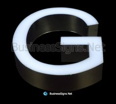 LED Front-lit Business Signs With Mirror Polished Stainless Steel Letter Shell Wayfinding Signage, Signage Design, Led Sign Board, Led Signs, Business Signs, Side View, Shell, Channel, Letter