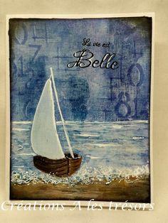 Créations A les trésors: Mon pochoir de bateau pour Magenta