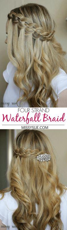 Four Strand Waterfall Braid