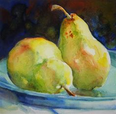 """Pears Two"" - Original Fine Art for Sale - © Carlene Dingman Atwater"
