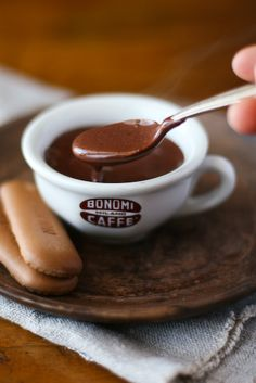 truly French, melted hot chocolate