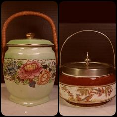 Beautiful Biscuit Jars from England Repin for later....