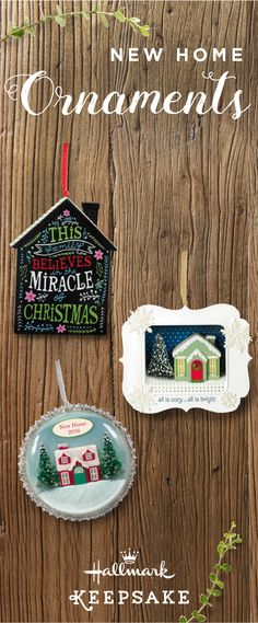 A new place to call your own, and a new place to decorate for the holidays! Celebrating Christmas in your new home is going to be memorable, so mark this big event in your life with a Hallmark Keepsake Ornament for your tree. This also makes a thoughtful gift idea for a friend or family member moving into their first home this holiday season! Shop online or at your nearest Hallmark Gold Crown store.
