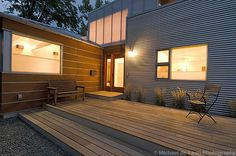 love the exterior material combo// Boxhouse