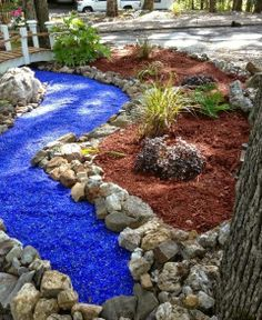 landscape glass mulch | www.closetheloop.com: How to Get Paid to Recycle Plastics